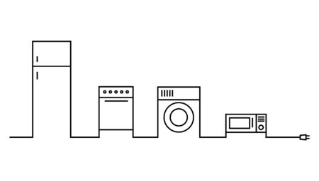 home appliances cable . Vector illustration EPS 10