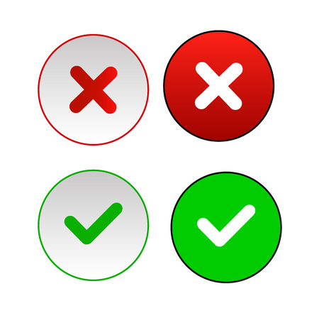 Validation buttons. Vector icon illustrator EPS 10