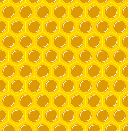 Vector Illustration of a Natural Background with Honeycombs.