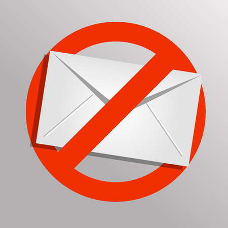 Vector spam icon. Envelope background. Eps 10.