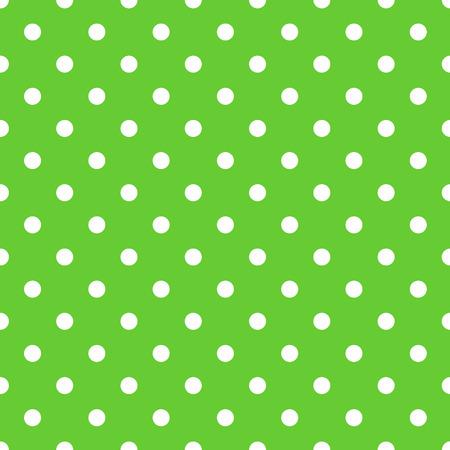 Seamless green polka dot background pattern. Vector Vector