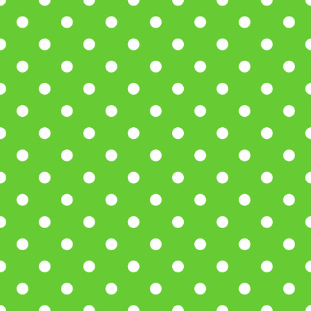 Seamless green polka dot background pattern. Vector Vector