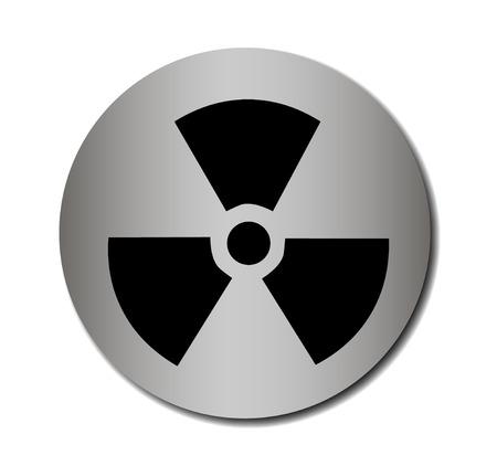 Vector nuclear sign or icon Vector illustration EPS 10 Vector