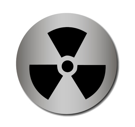 vector nuclear: Vector nuclear sign or icon Vector illustration EPS 10