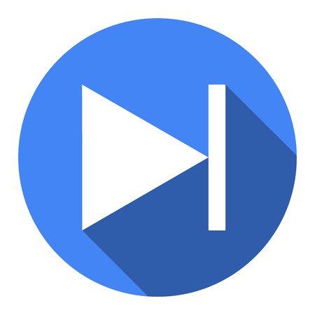 Glossy multimedia icon blue next track  Vector