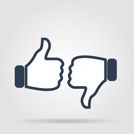 Thumb up icon, flat design. Vector flat Vector