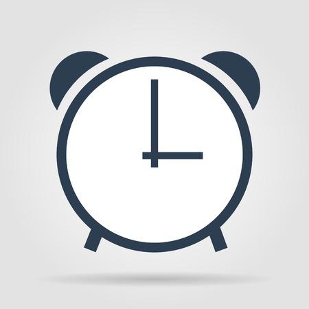 clock icon, vector illustration. Flat design style. Vector