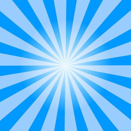 light blue color burst background. Vector illustration.