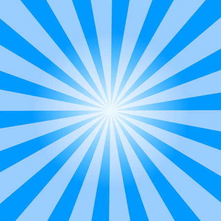 light blue color burst background. Vector illustration.