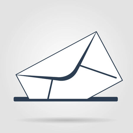 envelope mail symbol on gray background. Vector Vector