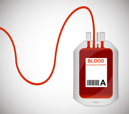 transfusion: Blood Bag isolated on white. Vector illustrator EPS
