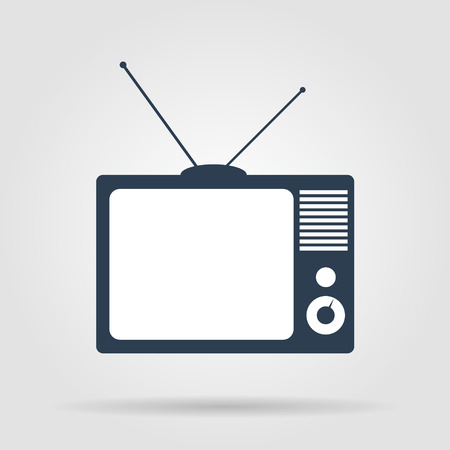 television show: TV vector icon. Flat vector illustrator Eps
