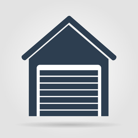 retro style home icon isolated on brown background.