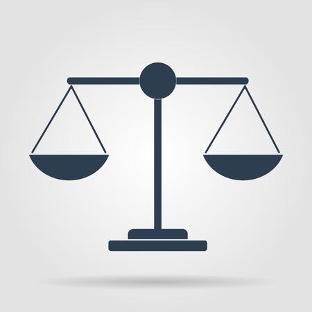 balance scale: Escala icono - ilustraci�n vectorial. EPS planos Vectores