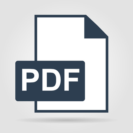 pdf: PDF icon. Flat vector illustrator Illustration