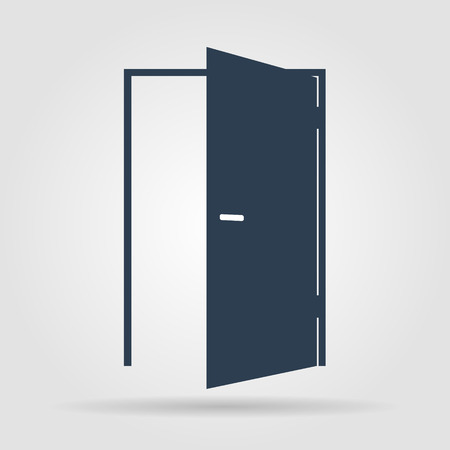 open door: Door icon. Flat vector illustrator