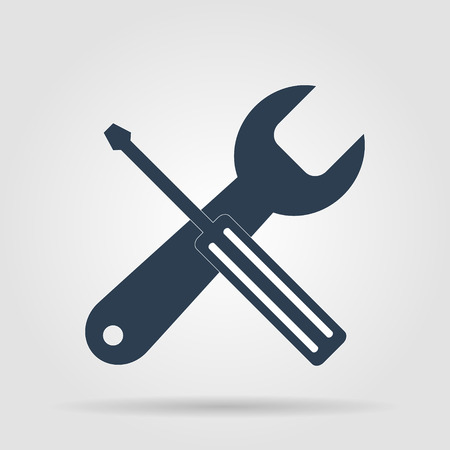singn: Repair Icon. Service  simbol. Tools singn. Flat design style