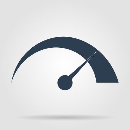 Vector speedometer icon Flat vector illustrator Eps