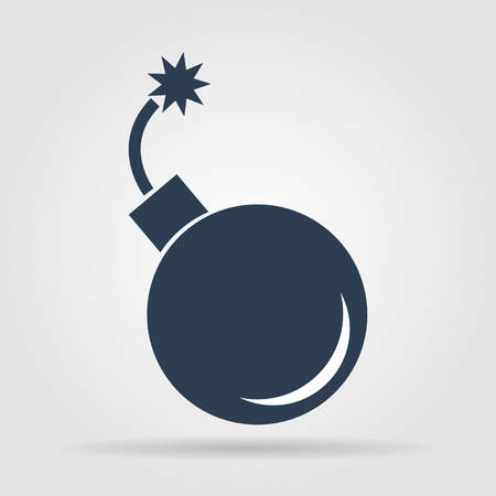 bomb icon. Flat vector illustrator Eps  10 Vettoriali