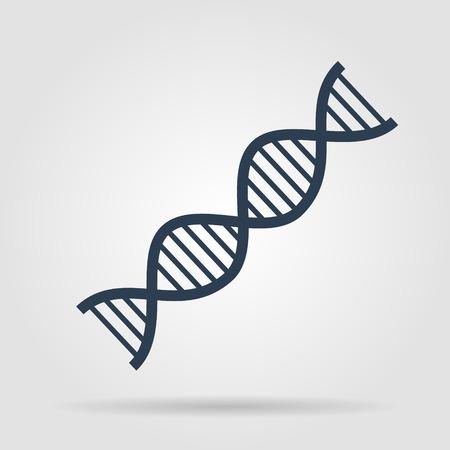 ベクトル DNA のアイコン。フラット ベクトル イラストレーター Eps