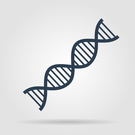 Vector DNA icon. Flat vector illustrator Eps
