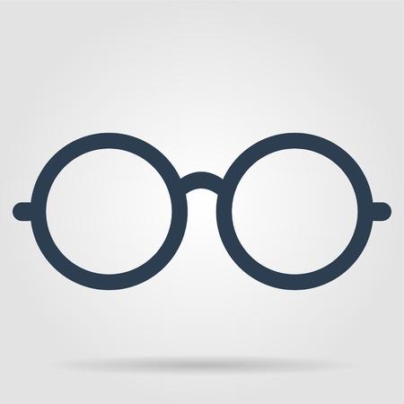 眼鏡のアイコン。平らなベクトル イラストレーター Eps 10