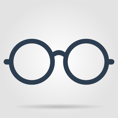 안경 아이콘입니다. 평면 벡터 일러스트 레이터 (10) EPS