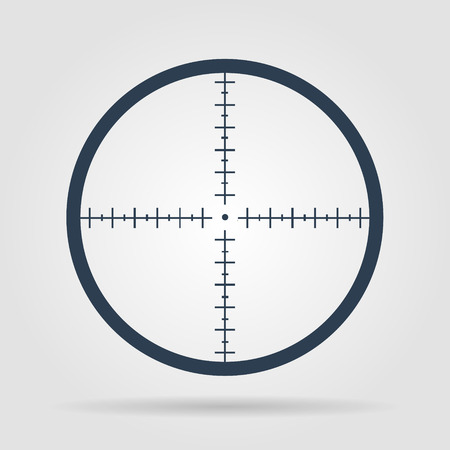 bullseye: Sight device icon. Flat design style modern vector illustration.
