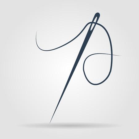 needle and thread: Needle icon  Flat vector illustrator Eps 10