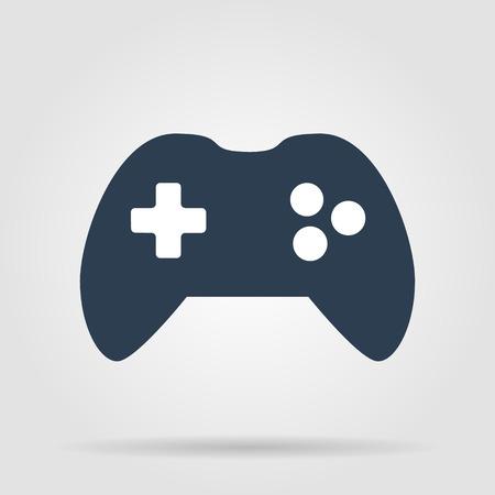 joy pad: Game controller icon. Flat vector illustrator Eps Illustration