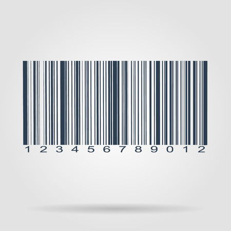 Barcode icon, vector illustration. Flat vector illustrator Eps