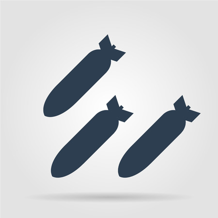 Air bomb vector icon. Flat vector illustrator