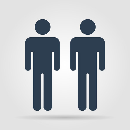 gender symbol: couple icon,. Flat vector illustrator Eps 10