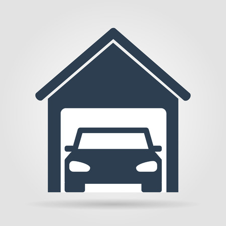 car garage . Flat vector illustrator  Vector