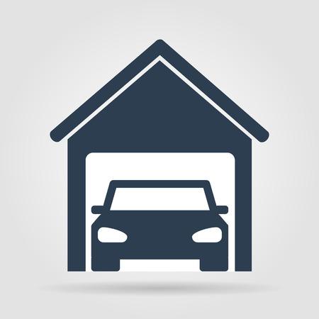 car garage . Flat vector illustrator  Vector