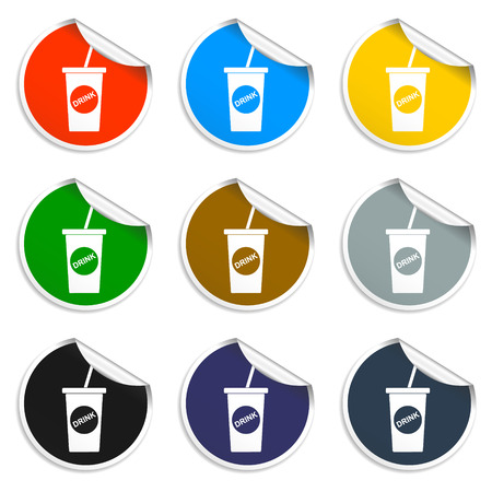 Soft drink icon. Flat vector illustrator Eps Vector