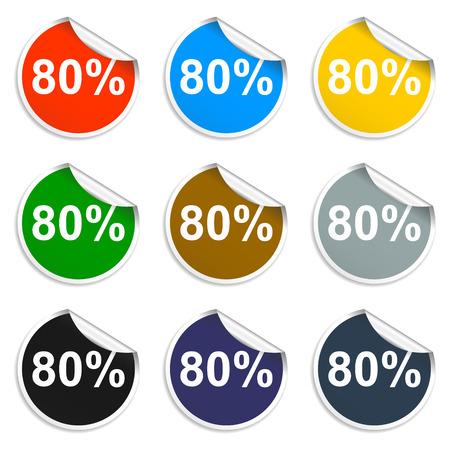 Promo sale stickers. Vector. Illustrator EPS 10 Vector