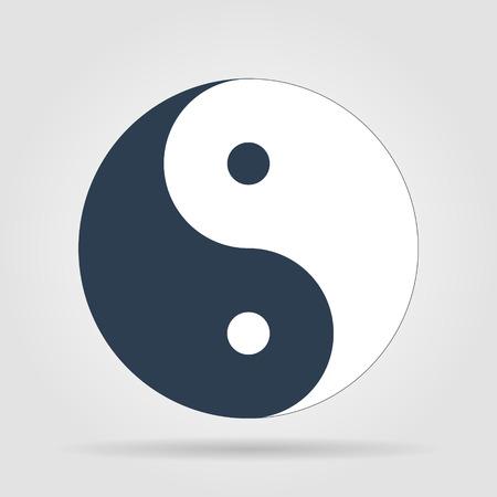 陰陽のシンボル - 黒と白のベクトル図  イラスト・ベクター素材