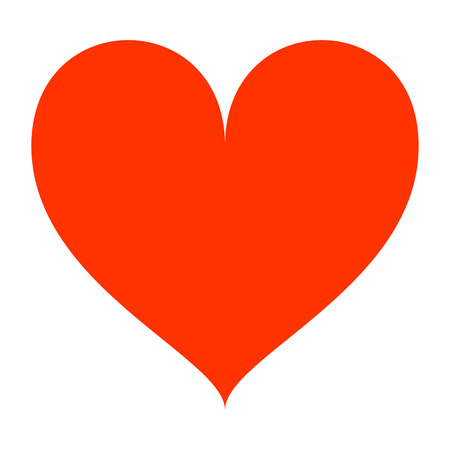 red heart. Vector icon illustrator EPS 10