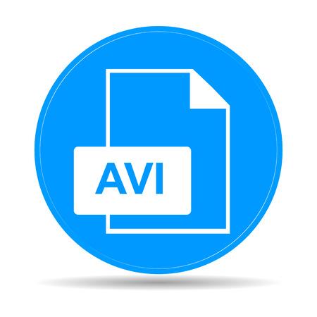hd: avi file icon. Flat vector illustrator Eps 10 Illustration