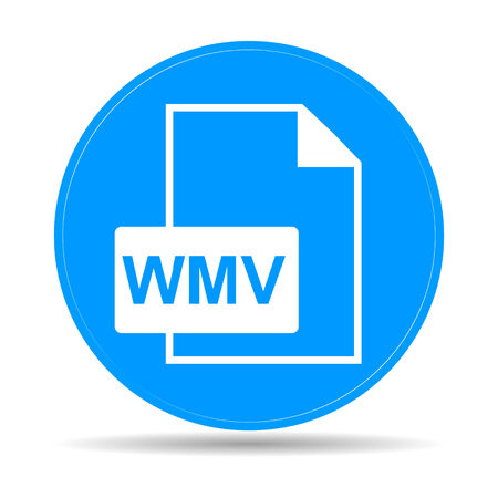 wmv: wmv file icon. Flat vector illustrator Eps 10