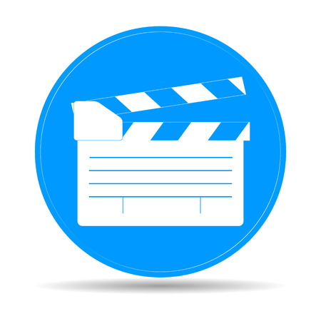movie clapper board, movie maker vector. Illustrator 矢量图像