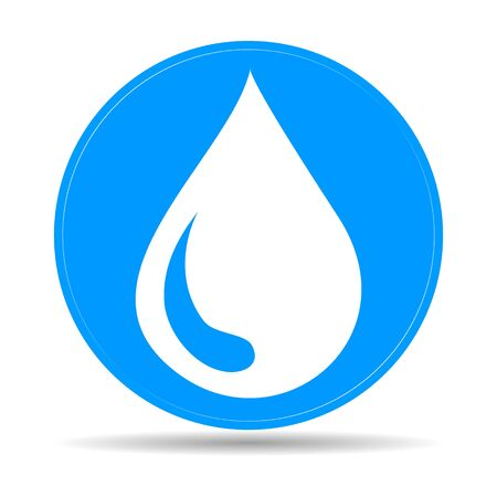 water icon, flat vector illustration. design EPS 10 Ilustracja