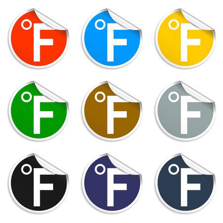 Vector icon Fahrenheit. Flat Illustrator EPS 10 Vector