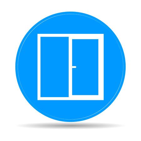 Flat  Window icon, vector illustration  illustrator Eps Vector