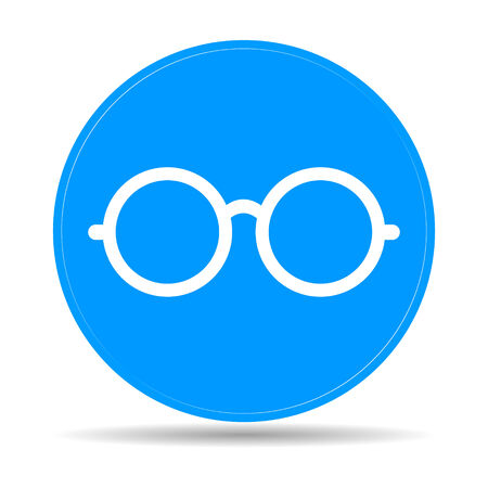 spectacle frame: Glasses icon. Flat vector illustrator Eps  10