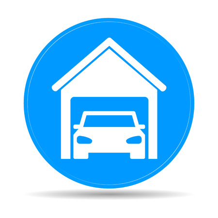 car garage . Flat vector illustrator Eps Vector