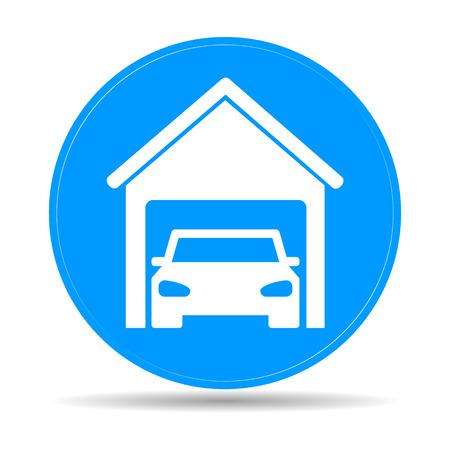 car garage . Flat vector illustrator Eps Vector