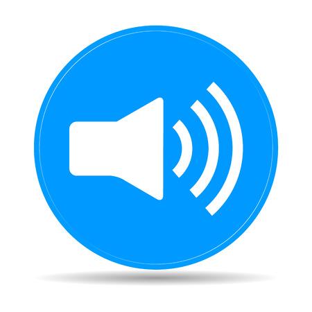 Speaker icon. Flat vector illustrator Eps 10 Stock Vector - 35299503