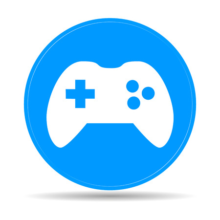controller: Game controller icon. Flat vector illustrator Eps Illustration